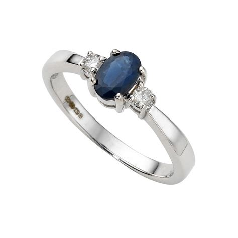9ct white gold sapphire and ring ernest jones