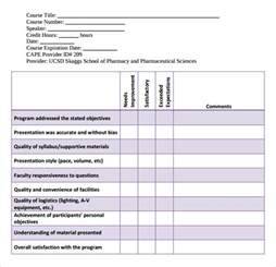 curriculum evaluation template sle program evaluation form 11 free sles