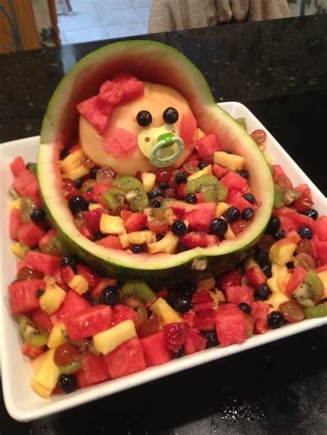 Baby Shower Fruit Tray by My Spin On Baby Shower Fruit Tray Baby Ideas