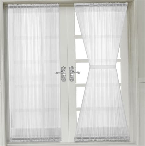 sheer curtains for french doors french door sheer curtain panels home design ideas