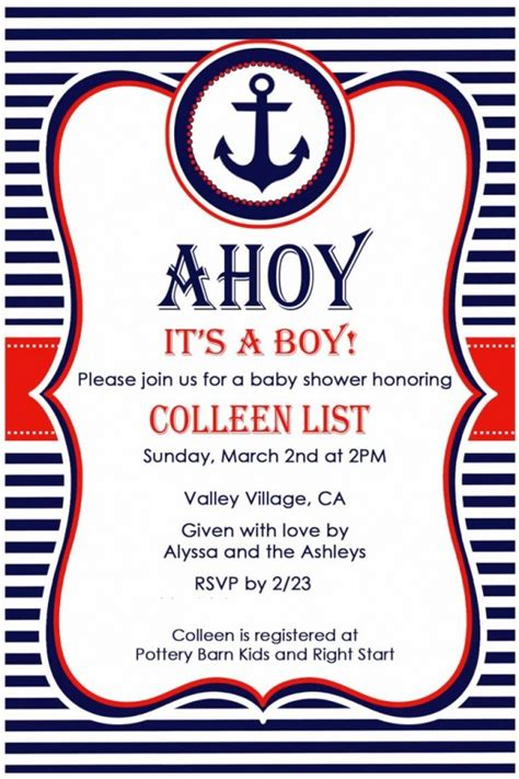 Nautical Theme Baby Shower Invitations by Nautical Baby Shower Invites Nautical Baby Shower Invites