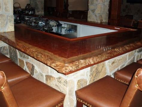 Live Edge Bar Top Made Live Edge Bubinga Bar Top In Frederick Md By