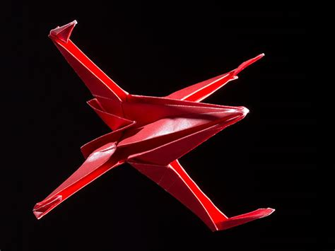 X Wing Fighter Origami - how to make an origami x wing fighter boys magazine