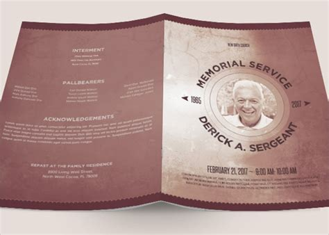 sample father funeral program  documents   psd