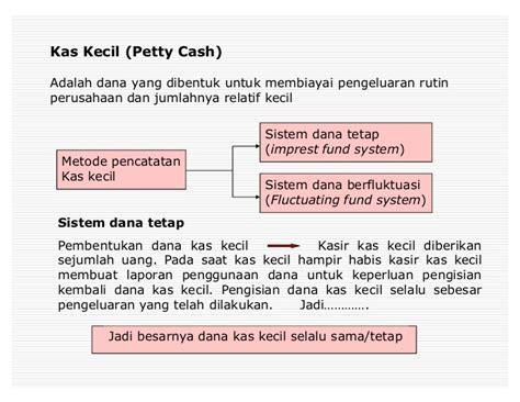 membuat jurnal petty cash kas banki