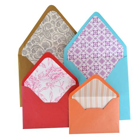 pattern in envelope lined envelopes pattern paper cards pockets
