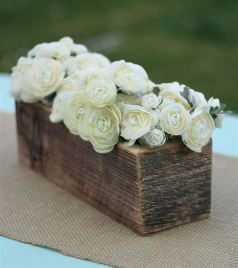 Wood Vases For Centerpieces by Items Similar To Barn Wood Vase Planter Centerpiece Flower