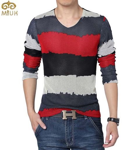 Tshirt Stripe Fashion Modern Indonesia shirt picture more detailed picture about large size