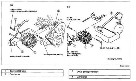 2003 Mazda Protege Alternator 2003 Mazda Protege 4 Cyl I
