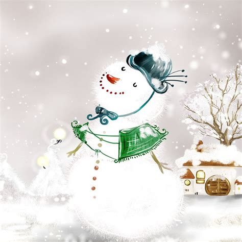 free downloa holiday wallpaper ipad wallpapers free snowman mini wallpapers 1024x1024