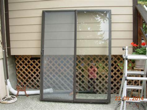Patio Screen Frame by Aluminum Frame Sliding Glass Patio Door W Phantom Screen