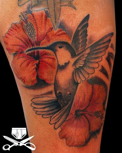 tight tattoo designs hummingbird and hibiscus designs this was created