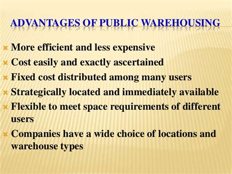 warehouse layout advantages warehousing