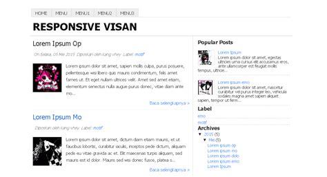 tutorial tentang blogger template blogg responsive visan semua tutorial tentang