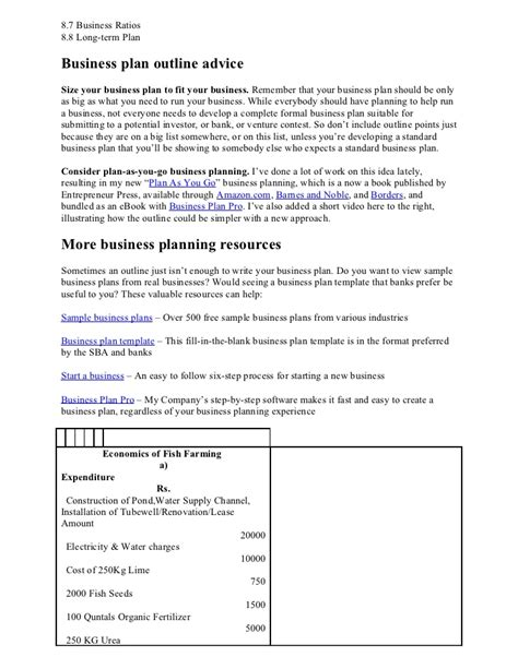determine business plan format business plan format