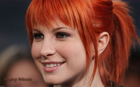 is hailey williams hair naturally red female celebrities hayley williams picture nr 40318