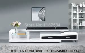 Simple Tv Table Design Lv1829 Living Room Wooden Glass Stretch Tv Stand Modern