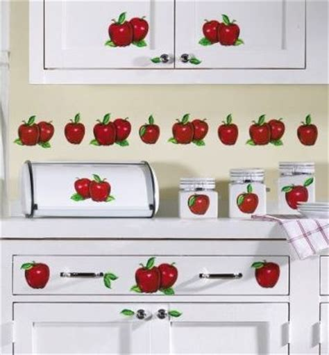 Apple Decals For Kitchen Apple Decor Stick On Kitchen Apple Decorations For The Kitchen