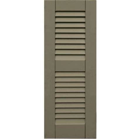Winworks Wood Composite 12 In X 32 In Louvered Shutters Home Depot Exterior Shutters
