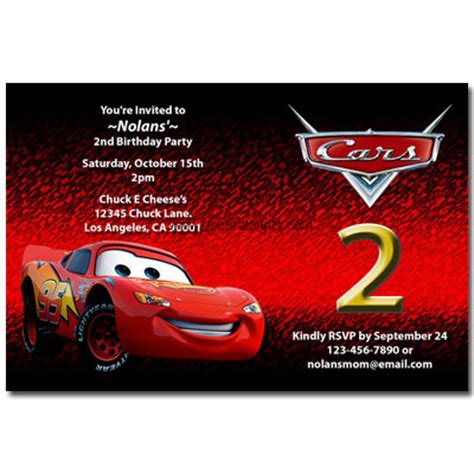 disney cars birthday invitations printable disney cars invitations lightning mcqueen mater