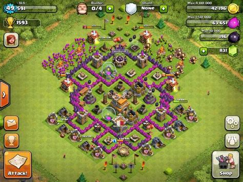 layout coc town hall 7 clash of clans builder best town hall 7 layouts heavy