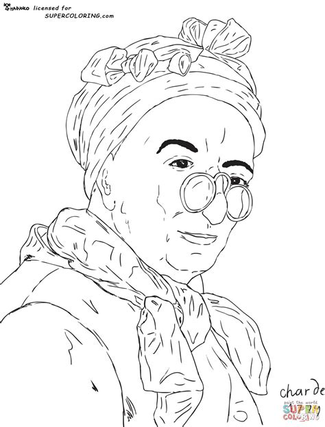 Self Portrait With Spectacles By Jean Simeon Chardin Self Portrait Coloring Page