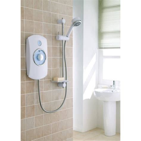 Mira Orbis 9 8 Kw Electric Shower by Mira Orbis 9 8kw Electric Shower White Chrome