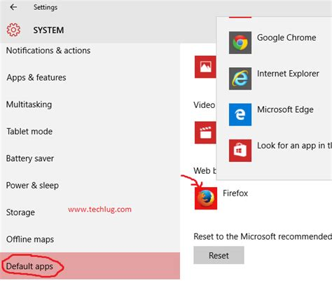 change default browser android how to change default browser on windows 10