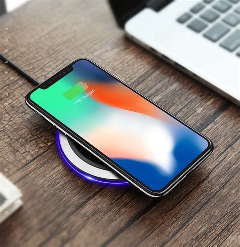 note 8 edge lighting floveme 10w qi wireless charger with led light for iphonex