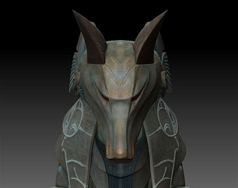 printable anubis mask stargate sg anubis mask base model done in modo sculpt