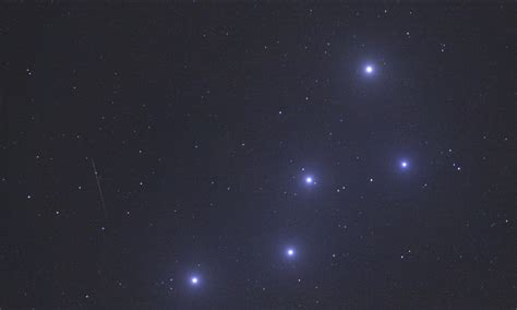 Persid Meteor Shower by The Night Queen Constellation Cassiopeia Reigns Over