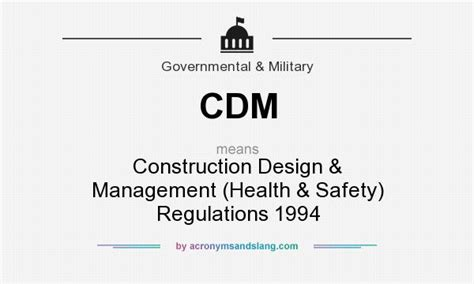 design management regulations cdm construction design management health safety