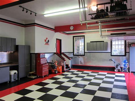 garage design ideas optimizing chessboard flooring ideas