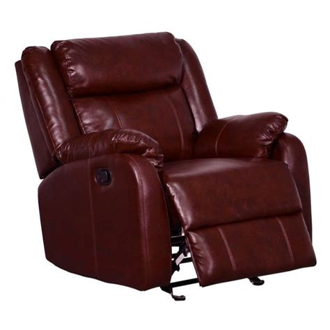 Global Furniture Usa Leather Glider Burgundy Recliner Ebay