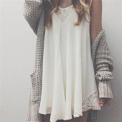 dress sweater hippie cardigan top white lace short