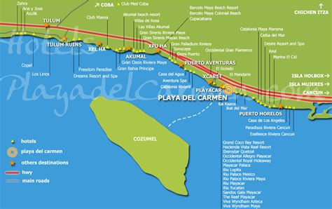 playa hotel map hotels playa practical information
