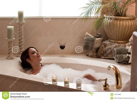 bathtub lady relaxing in the bath royalty free stock image image