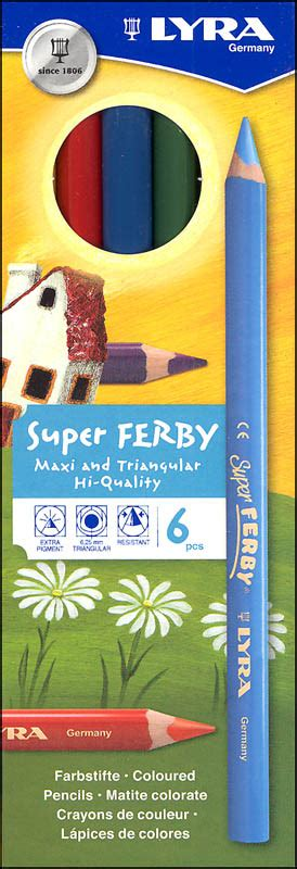 Lyra Ferby Nature 6 Ref3611060 lyra ferby triangular colored pencils set of 6 040017 details rainbow resource