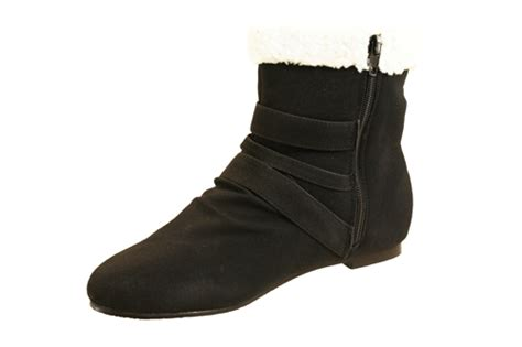 back grey flat low heels fur cheap ankle boots