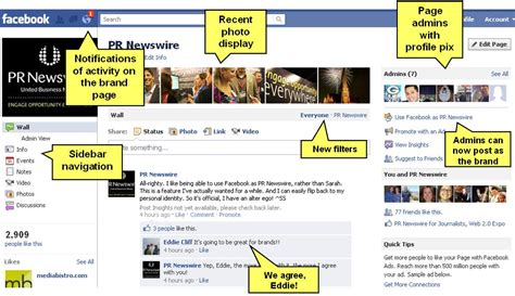 facebook photo layout change blog facebook pages changes layout and adds