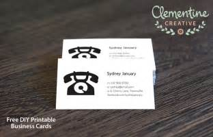 Free Business Card Templates Printable by Free Diy Printable Business Card Template