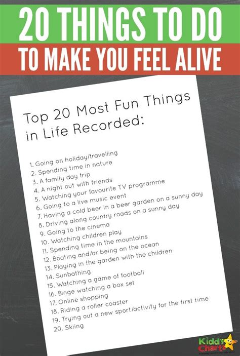 Top 20 Complaints Make About by 20 Things To Do To Make You Feel Alive