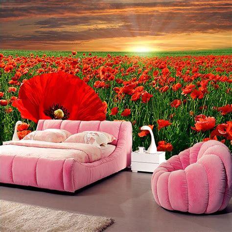 wallpaper flower murals online get cheap flower garden mural aliexpress com