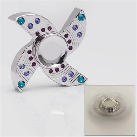 Fidget Spinner Metalic Handspinner Fidget Toys Silver silver brass spinner fidget focus edc