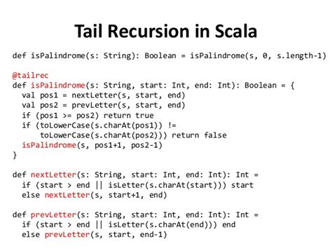 scala pattern matching tail recursion laziness trolines monoids and other functional