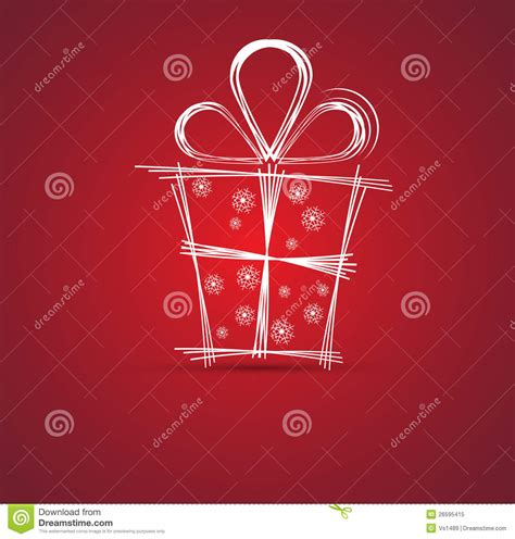 new year gift for and happy new year gift box background stock