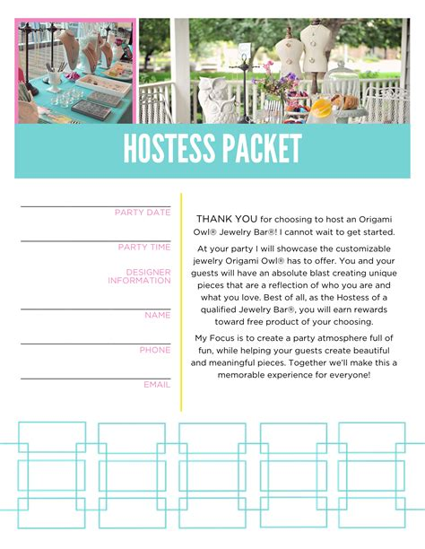 Origami Owl Pdf - origami owl hostess packet booking letter message me for