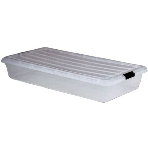iris clear underbed storage container in bed storage