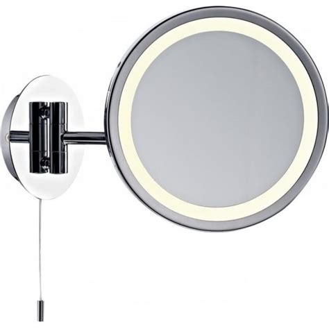 polished chrome bathroom mirrors dar lighting gibson low energy single light switched