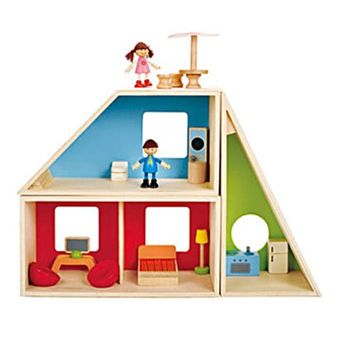 hape doll house hape wooden toys geometrics house first dollhouse for kids small for big